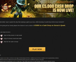 Share in the £5,000 Gonzo's Quest Cash Drop at NetBet Casino