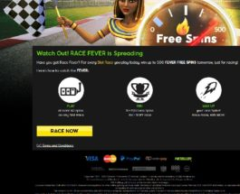 Win Hundreds of Free Spins with 888 Casino's Race Fever
