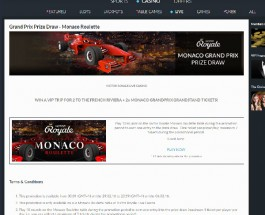 BetVictor Casino Offers VIP Trips to the Grand Prix