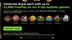 888 Casino Celebrates Royal April With £1000 of Free Play