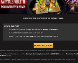 Win a Fairy Tale Home Cinema System at NetBet Casino
