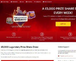 Win a Cash Prize in Sky Vegas Reels of Fire Prize Draw