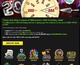 Win Up To €888 Instant Free Play at 888 Casino