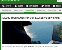 Unibet Casino Runs £7,000 Eye of the Kraken Slot Tournament