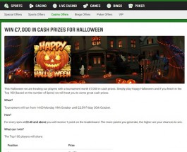 Win a Share of £7,000 at Unibet Casino this Halloween