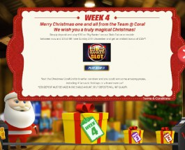 Receive a Christmas Bonus at Coral Casino