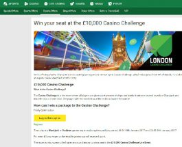 Win a Package to Unibet's £10,000 Casino Challenge