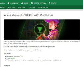 Win a Share of £20,000 Cash in Unibet Casino's Pied Piper Tournament