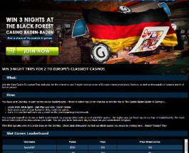 Win a Three Night Stay at the Black Forest Casino at Gala Casino