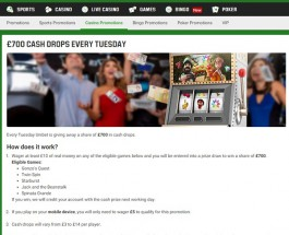 Win a Share of £700 on Tuesdays at Unibet Casino