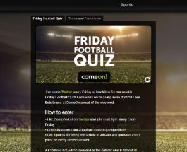 Win Free Bets at ComeOn! Every Friday