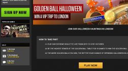 Win A VIP Trip to London with NetBet Golden Ball Halloween Promotion