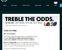 Treble Your Odds at Grosvenor Casino