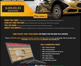 Win a Car at Betfair Casino This Week