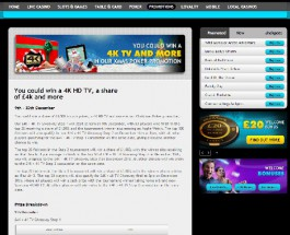 Win a 4K HD TV at Grosvenor Casino
