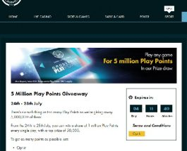 Win a Share of 5 Million Play Points at Grosvenor Casino