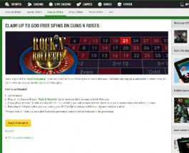 Win Up to 600 Free Spins on Guns N Roses at Unibet Casino