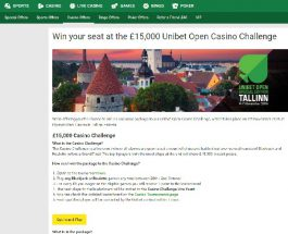 Win a Seat at the £15K Unibet Open Casino Challenge in Estonia
