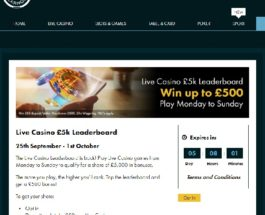 Win a Share of £5K in Grosvenor Casino's Live Casino Leaderboard