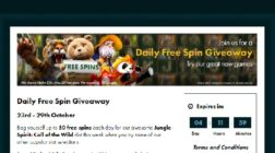 Claim 50 Free Spins Daily at Grosvenor Casino