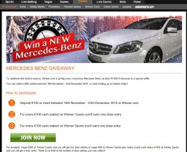 Win a Brand New Mercedes Benz at Winner Casino