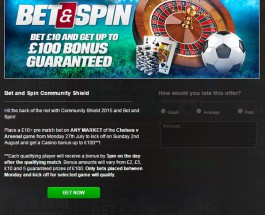 Coral Casino Offers Bonuses for Betting on Community Shield