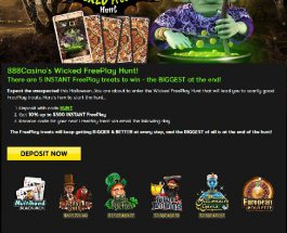 888 Launches a Wicked Free Play Hunt with Huge Bonuses