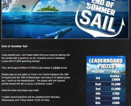 Win a Luxury Caribbean Cruise at Coral Casino