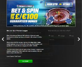 Bet On Man U vs Stoke at Coral To Receive Casino Bonuses