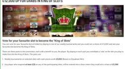 Claim a Share of £12K in Unibet King of Slots Competition