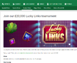 Win Up to £3K in Unibet Casino's Lucky Links Tournament