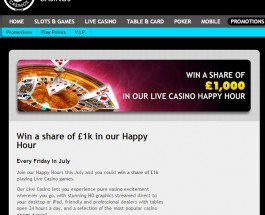 Grosvenor Casino Offers Live Dealer £1K Prize Pool Every Friday