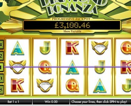 JackpotJoy Casino's Diamond Bonanza Video Slot Offers £8.4K