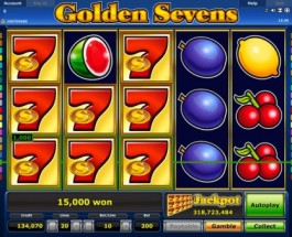 Golden Sevens Slot is offering a €3.2 million jackpot