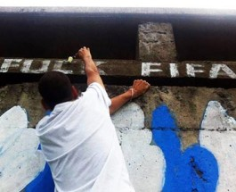 Graffiti Paints A Grim Picture In Brazil Amid World Cup