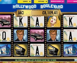 £233K Hollywood Boulevard Progressive Jackpot Available at Bet365 Casino