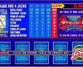 SuperJax Video Poker Progressive Jackpot Pays Out £52,314