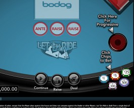 Bodog Casino Let'em Ride Progressive Poker Jackpot Exceeds $75K