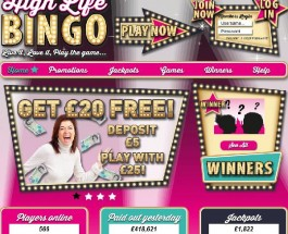 High Life Bingo Goes Live With Massive Jackpots