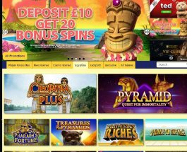 Pyramids Fortune Casino Transports You to Egypt