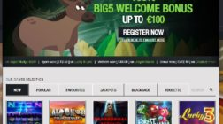 Big 5 Casino Launches with Masses of Games on Offer