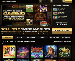 Total Gold Casino Offers Members Golden Bonuses