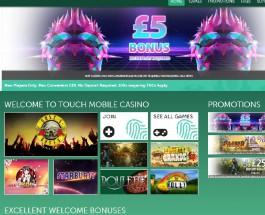 Touch Mobile Casino Features Top Mobile Slots