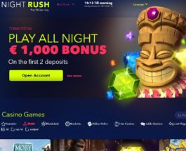 Night Rush Casino Invites You To Play All Night Long