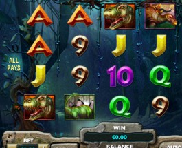 Dinosaur Adventure Slot Offers Multiplying Wild Symbols