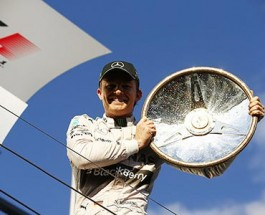 Nico Rosberg Takes Checkered Flag Down Under