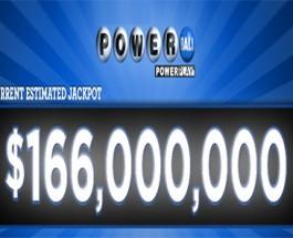 Powerball Jackpot Grows to $166 Million