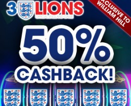 William Hill Launches 3 Lions Slots