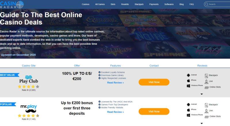 The Top Three Casino Portals for 2020