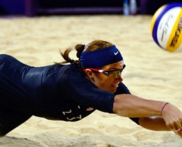 U.S. Beach Volleyball Drives Spikes into London 2012 Competitors